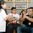 Salman Khan at Rashid Pediatric Therapy Centre in Dubai for Being Human Charity 2012