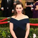 Actress Emilia Clarke attends the 21st Annual Screen Actors Guild Awards at The Shrine Auditorium on January 25, 2015 in Los Angeles, California
