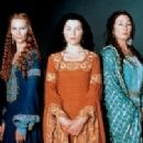 Anjelica Huston as Viviane/Lady of the Lake, Julianna Margulies as Morgan and Joan Allen as Morgause in The Mists of Avalon (2001)