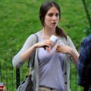 Alison Brie On The Set Of Sleeping With Other People In New York City