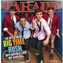 Big Time Rush is on the cover of the new issue of Parade Magazine. The boys sat down with the magazine to talk about their show Big Time Rush, their fans, and so much more - 454 x 517