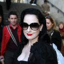 Dita Von Teese - The Christian Lacroix Haute Couture Fashion Show In Paris, France, 22.01.2008.