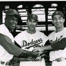 Jackie Robinson, Sal Maglie & Carl Furillo - 454 x 357
