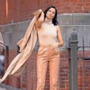 Adriana Lima – On a video shoot in New York City