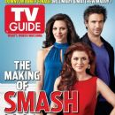Katharine McPhee, Debra Messing - TV Guide Magazine Cover [United States] (6 February 2012)