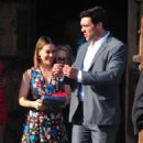 Alyssa Milano with David Bugliari to the Television Industry Advocacy Awards at TAO Hollywood - 454 x 820