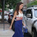 Katie Holmes in Long Dress – Out in NYC