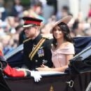 Prince Harry Windsor and Meghan Markle attend the 2018 Trooping the Colour ceremony - 454 x 307