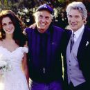 Julia Roberts, director Garry Marshall and Richard Gere on the set of Runaway Bride