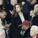 Model Barbara Palvin is joined by Kylie Jenner's ex Tyga as she watches rumoured footballer beau Neymar at PSG game in Paris - 454 x 303