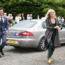 Malin Akerman – Arriving at Kit Harington and Rose Leslie wedding in Scotland - 454 x 316