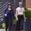 Kristen Stewart with friend out in New York City - 454 x 558