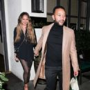 Chrissy Teigen and John Legend at Madeo Restaurant in Beverly Hills - 454 x 681