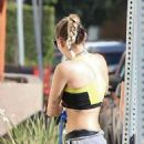 Miley Cyrus in Sports Bra out in LA - 454 x 641