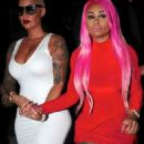 Blac Chyna, Amber Rose, and James Harden at 1 Oak Nightclub in West Hollywood - September 15, 2015 - 454 x 704