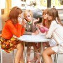 Jenny Boyd ,Twiggy and Chrissie Shrimpton