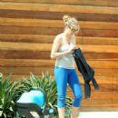 Teresa Palmer in Leggings Out in Los Angeles - 454 x 588