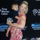 Melissa and her son Tucker hit the El Capitan Theater - 454 x 611