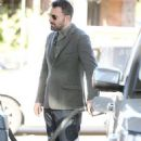 Ben Affleck grabbing coffee and gas in Brentwood (April 18)