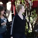 Elle Fanning – Leaves the gym in Los Angeles