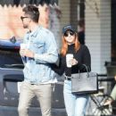 Brittany Snow and Tyler Stanaland – Leave lunch at Joan's On Third in Studio City