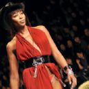 Naomi Campbell - Jean Paul Gaultier For Hermes Spring-Summer 2009 Ready-to-Wear Collection Show In Paris, France, October 4 2008