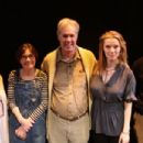 """The cast of tonight's Westport Country Playhouse script in hand play reading of Tina Howe's """"Painting Churches"""" posed for a photo during today's rehearsal. The play, a humorous and poignant story about a family named Church whose celebrated artist daughte - 454 x 303"""