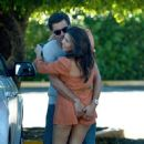 Kourtney Kardashian with Scott Disick: outside their residence in Miami