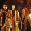 David Duchovny, Julianne Moore, and Orlando Jones in Dreamworks' Evolution - 2001