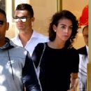 Cristiano Ronaldo's girlfriend Georgina Rodriguez flaunts her leggy figure in perilously short hot pants and heels as they enjoy a shopping trip in Madrid
