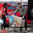 Katie Price – Shopping with Dreamboys star Al Warrell in Surrey - 454 x 340