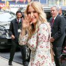 Kelly Preston – Leaving Good Morning America in NYC