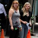 Chloe Moretz in Jeans on 'Louis C.K. Untitled Film Project' set in NYC