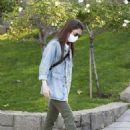 Lily Collins – Out for a walk in Beverly Hills