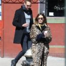 Alexa Chung & Alexander Skarsgard Out And About In NYC ( March 23, 2017) - 421 x 600