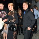 Paris Hilton in Black Dress with Chris Zylka out in LA