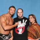 Mickie James and Nick Aldis