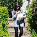 Lily Collins – Seen visiting a family member in LA