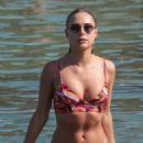 Kimberley Garner and Amy Jackson – Bikini candids at a beach in Mykonos - 454 x 681