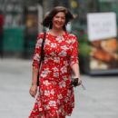 Lucy Horobin – In a red floral dress at Global Radio in London