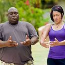 Faizon Love with Kali Hawk as Trudy in Universal Pictures' Couples Retreat. - 454 x 330