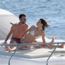 Alessandra Ambrosio and Jamie Mazur Boating While in Ibiza 7/3/2016 - 454 x 296