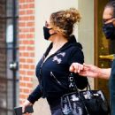 Mariah Carey – Wearing body hugging tights and heels in New York - 454 x 519