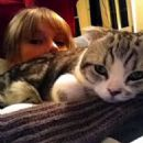 Taylor Swift and her Cat