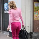 Charlotte Hawkins – All in pink at Classic FM in London
