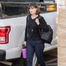 Zooey Deschanel – Arrives at 'Jimmy Kimmel Live' in Hollywood
