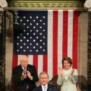 Dick Chaney & Nancy Pelosi At George W. Bush's State Of The Union Speech 2007 - 220 x 330