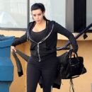 Kim Kardashian: showed up at her local fitness center in Studio City