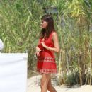 Cairo Dwek in Red Mini Dress – Arrives to the Club 55in Saint Tropez