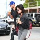 Lucy Hale with her trainer in Los Angeles